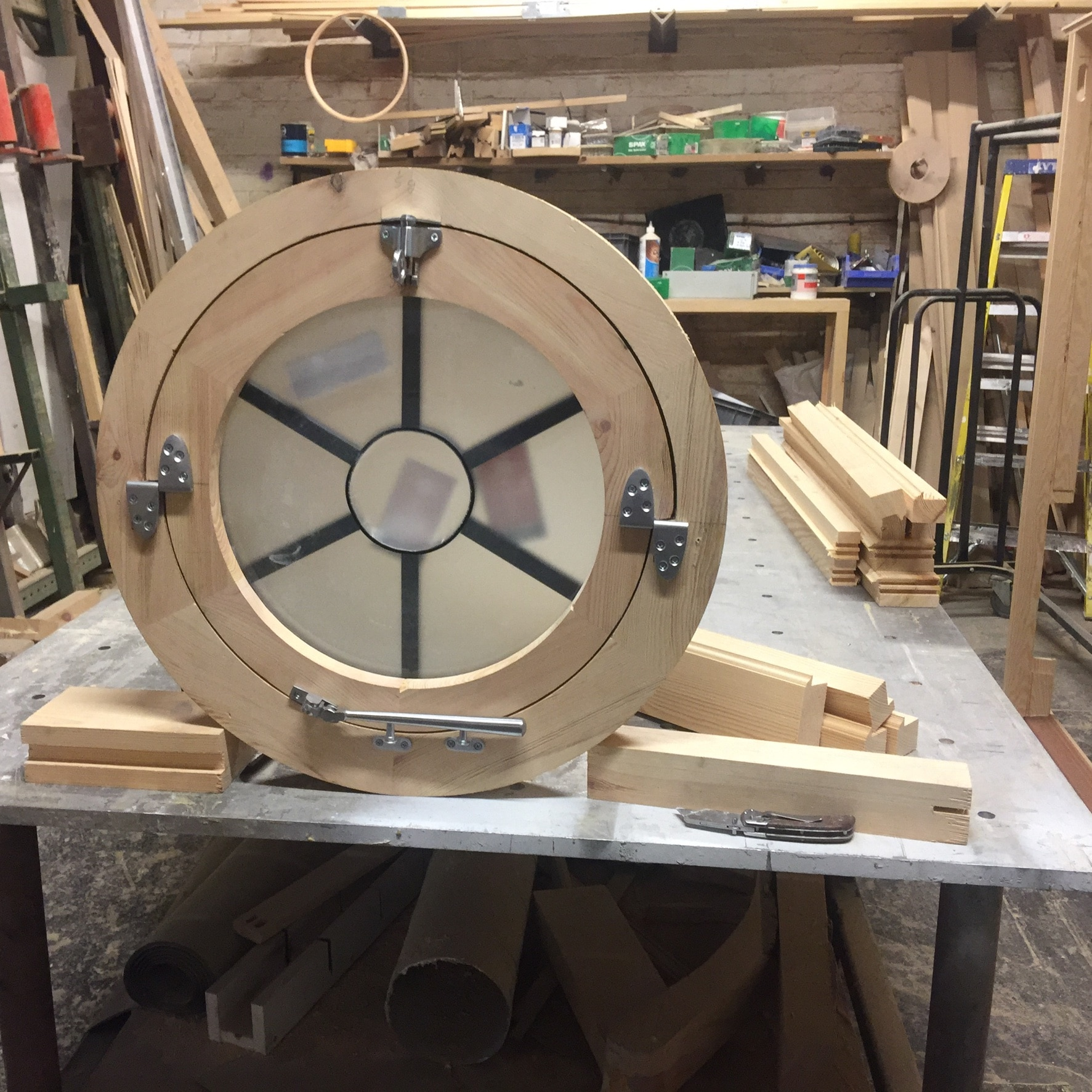 Round window in production.