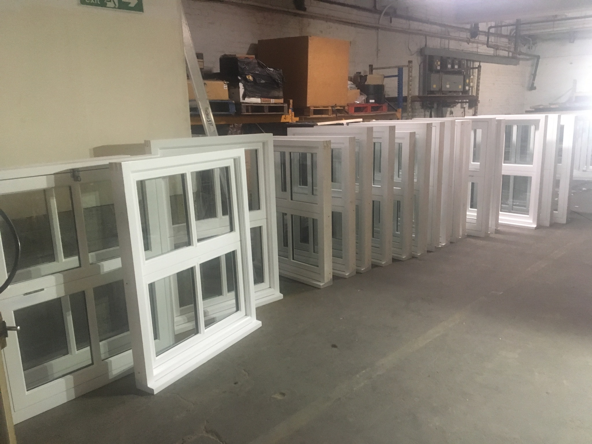 Casement windows ready for delivery for onsite installation.