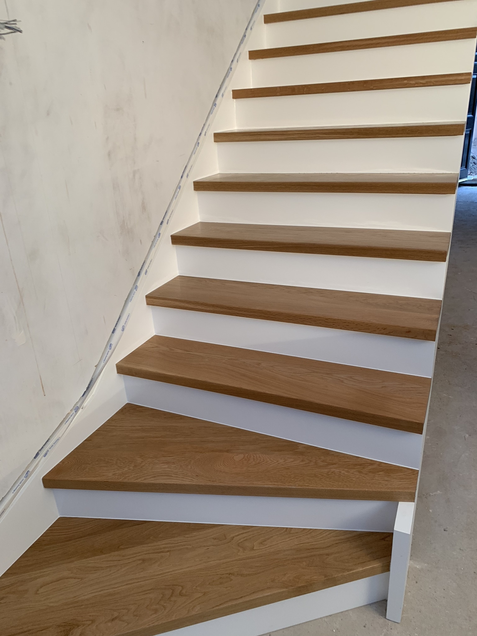 Staircase in construction.